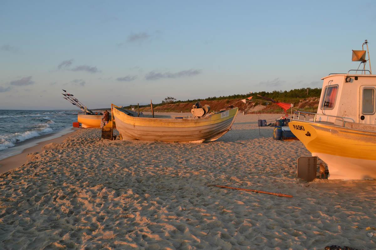 Fischerboote am Piaski Strand
