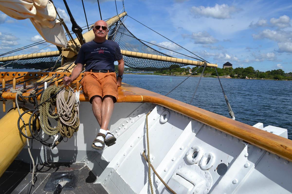 """Frederick auf dem Segelschulschiff """"Jarramas"""""""