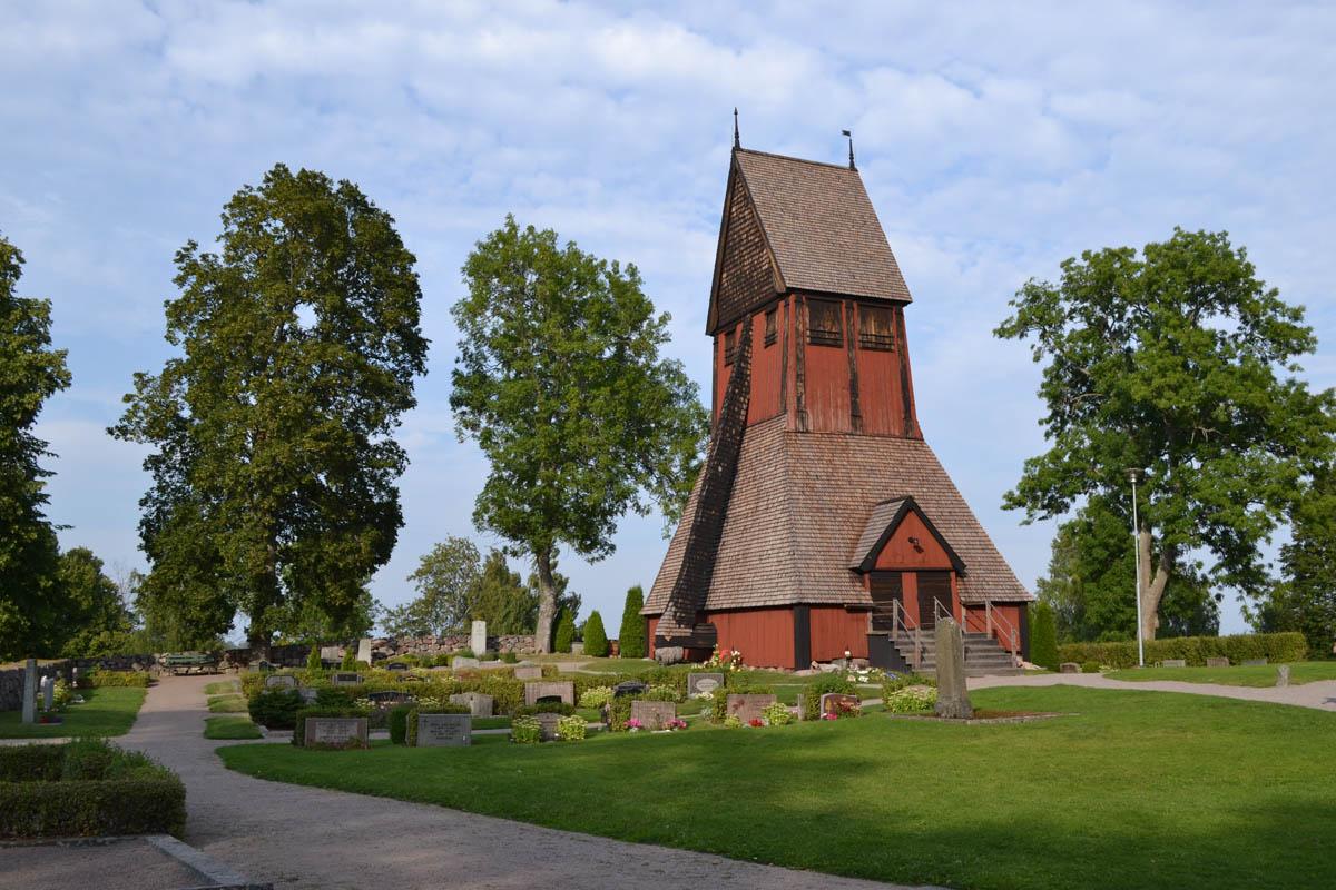 Glockenturm der Kirche von Gamla Uppsala