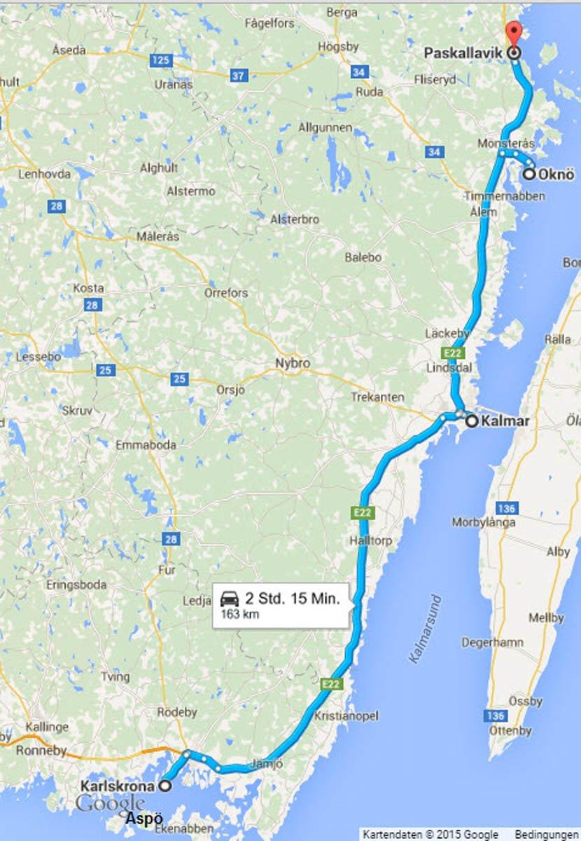 Karlskrona - Kalmar - Oknö -Paskallavik