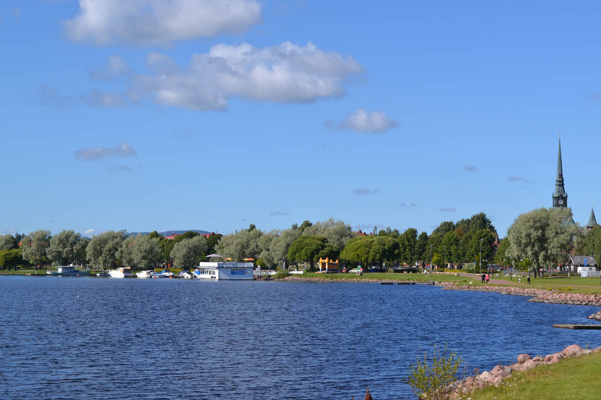 Der Blick auf den See und das Stadtzentrum