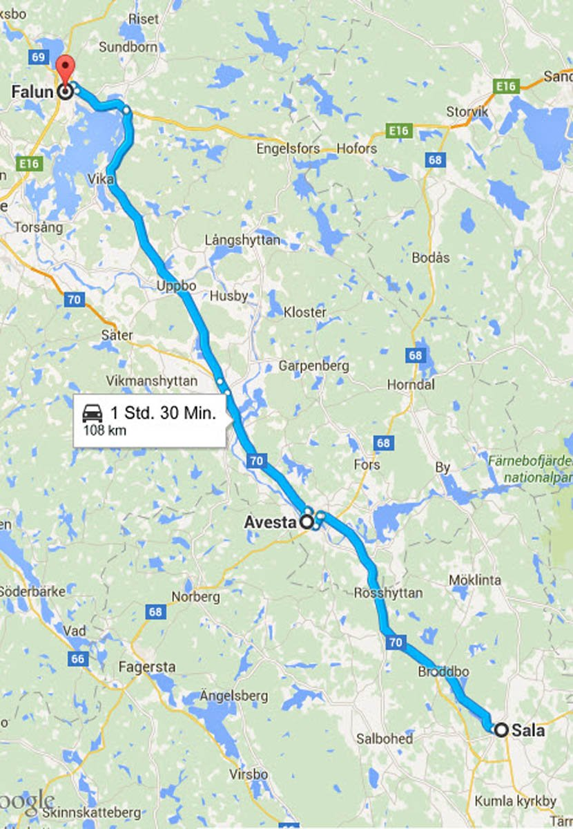 Sala - Avesta - Falun