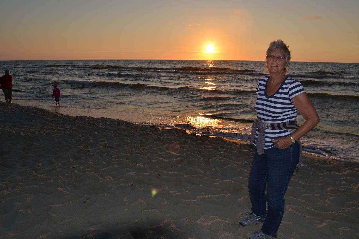 Sonnenuntergang am Strand von Piaski