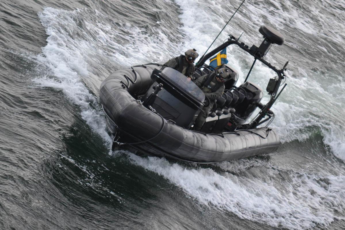 Übung schwedischer Marinesoldaten