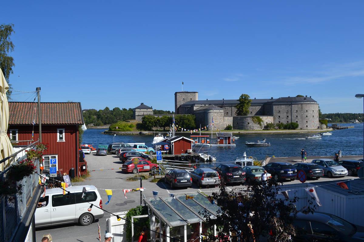 Vaxholm Hafen und Festung