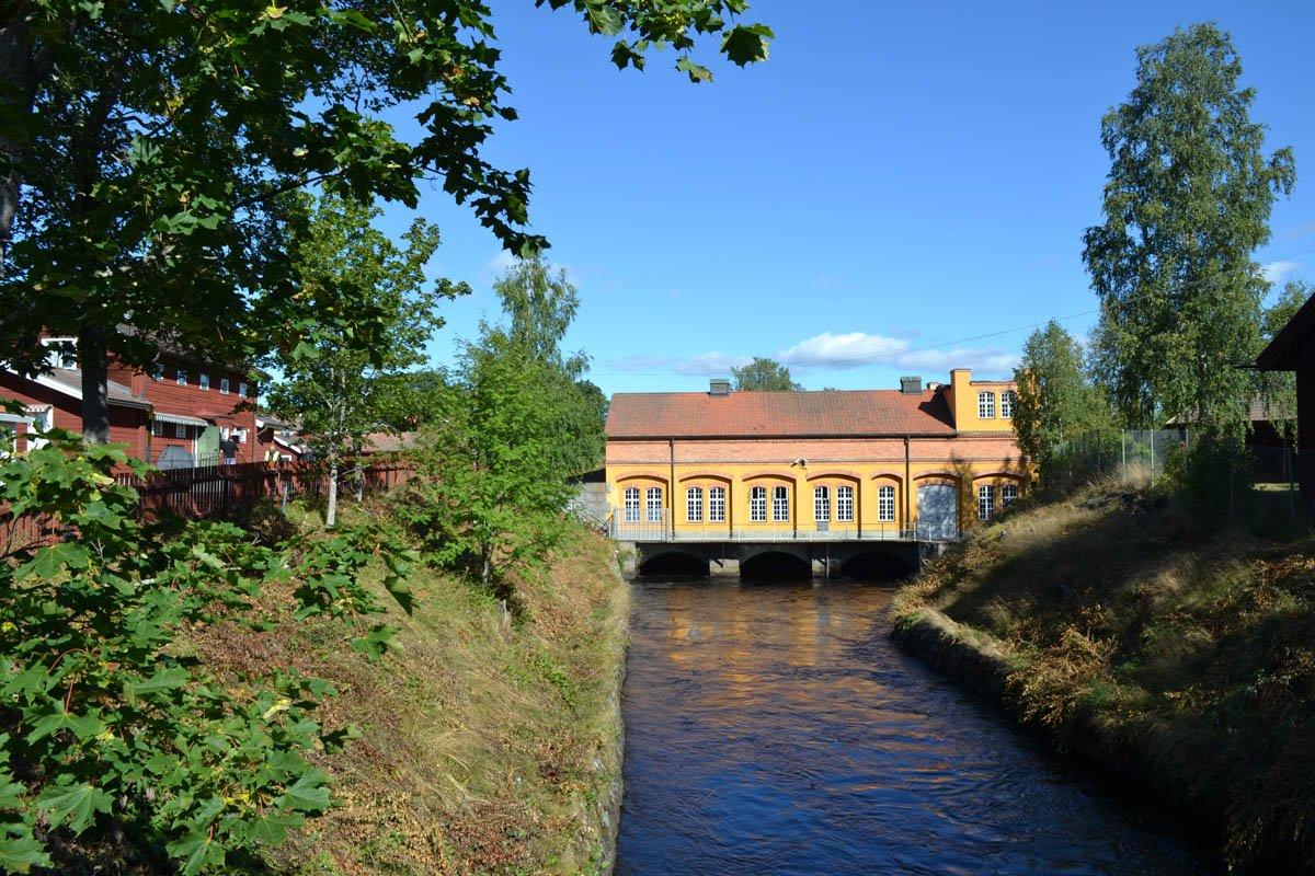 Das Wasserkraftwerk des Dorfes