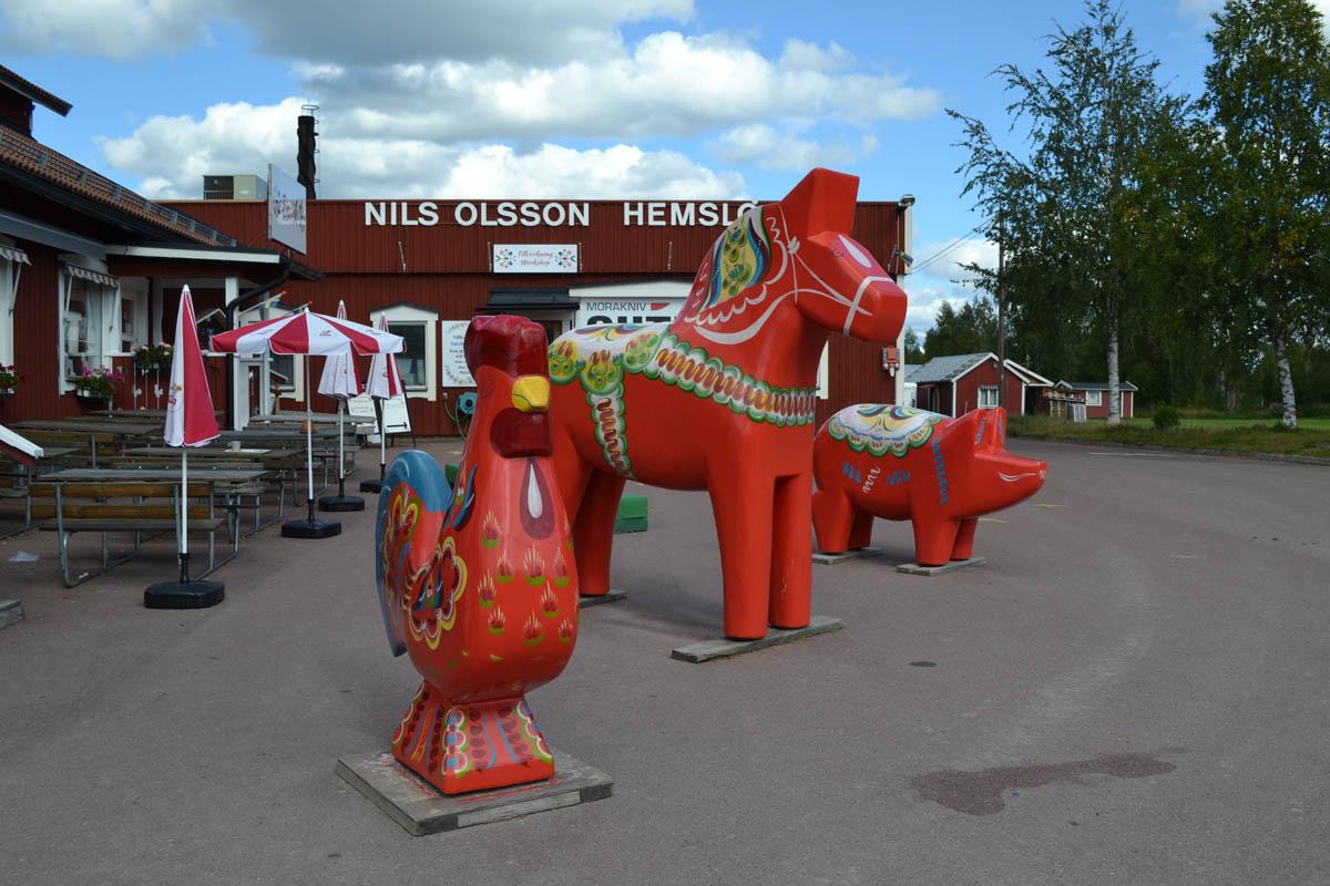Der Hof vor der Nils Olsson Werkstatt