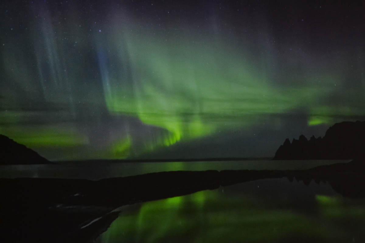 Nordlicht vom Film abfotografiert