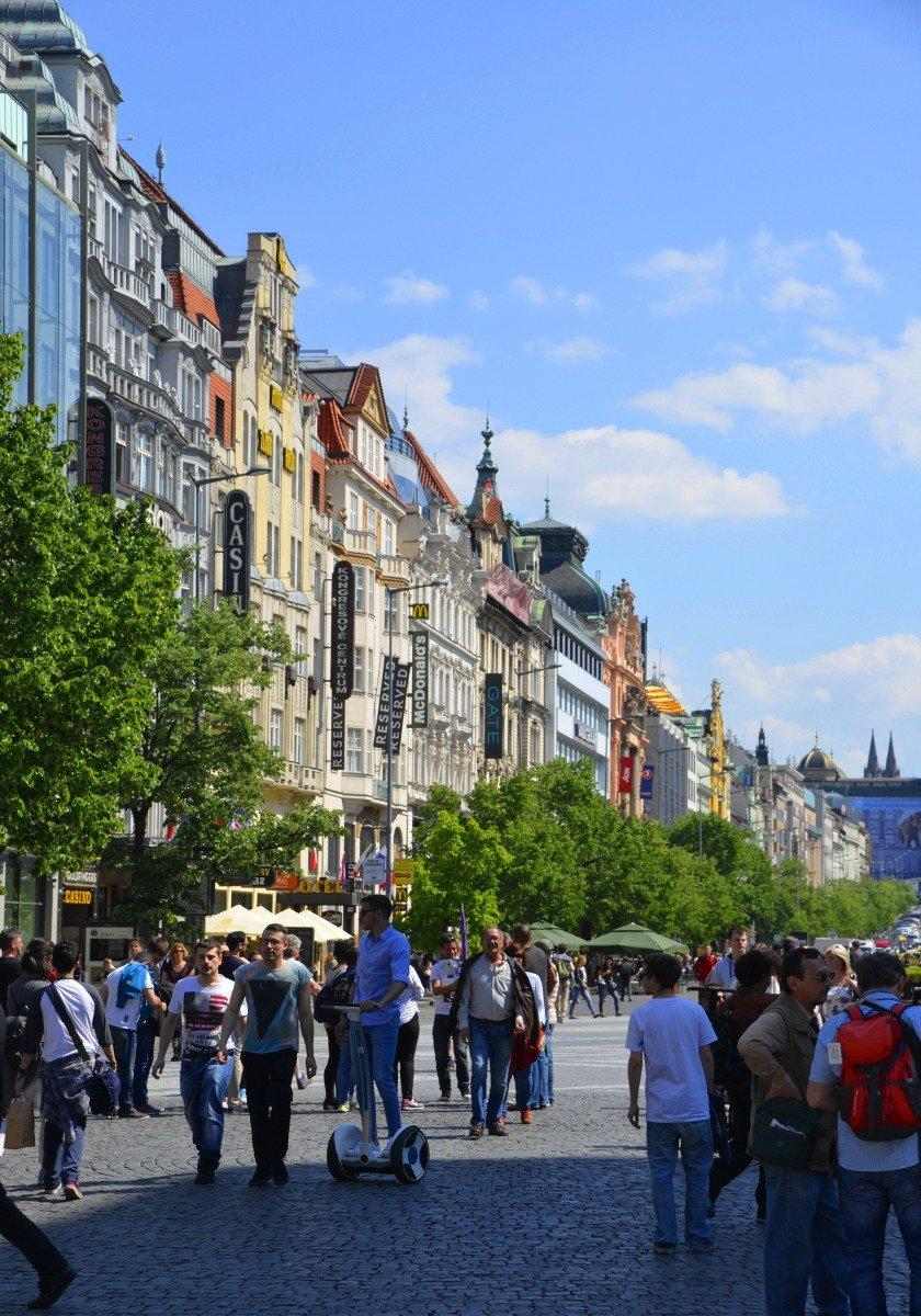 Barocke Häuserfront am Wenzelsplatz