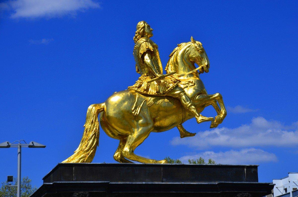 Der Goldene Reiter in der Neustadt