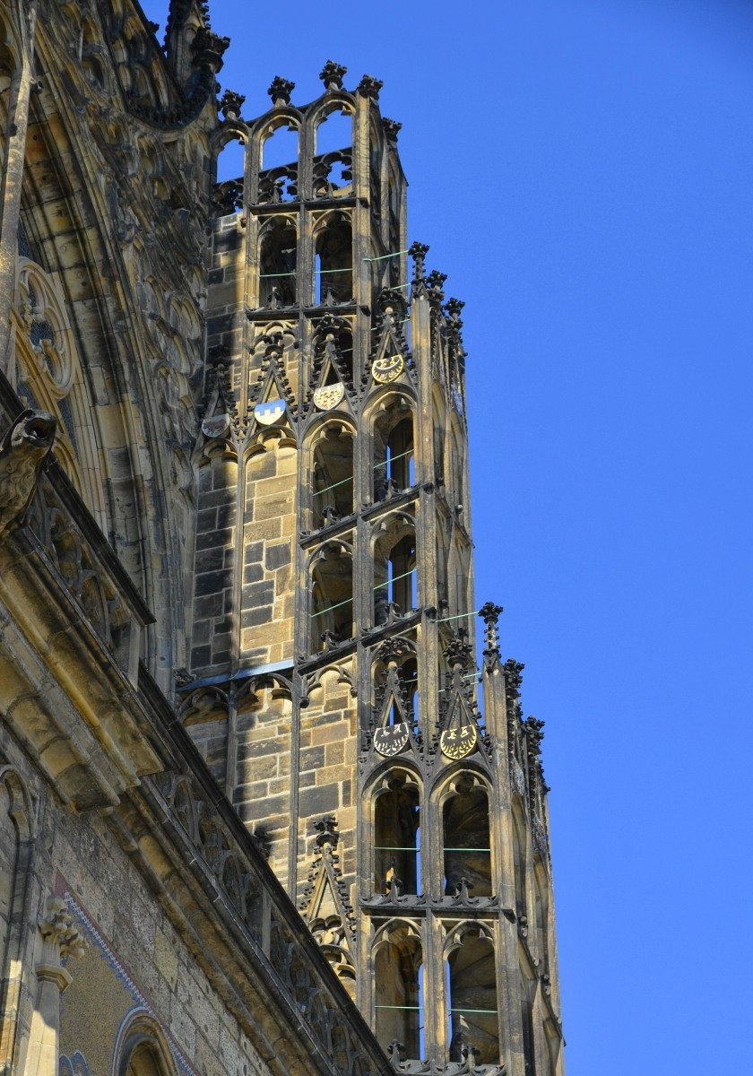 Externe Wendeltreppe an der St Veitskirche