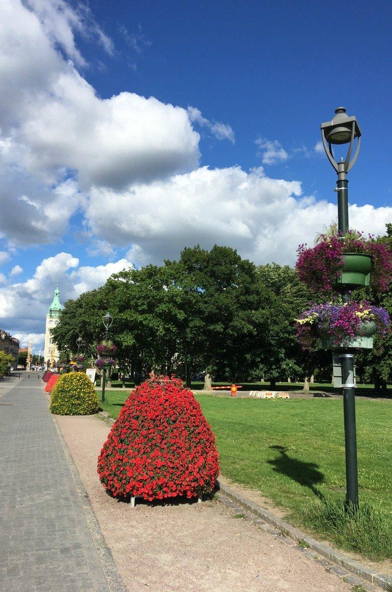 Blumenpracht in Kristianstad