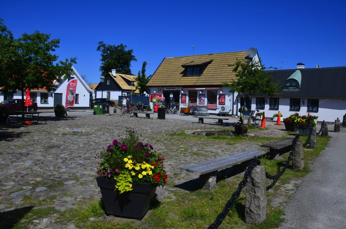 Idyllischer Supermarkt in Falsterbo