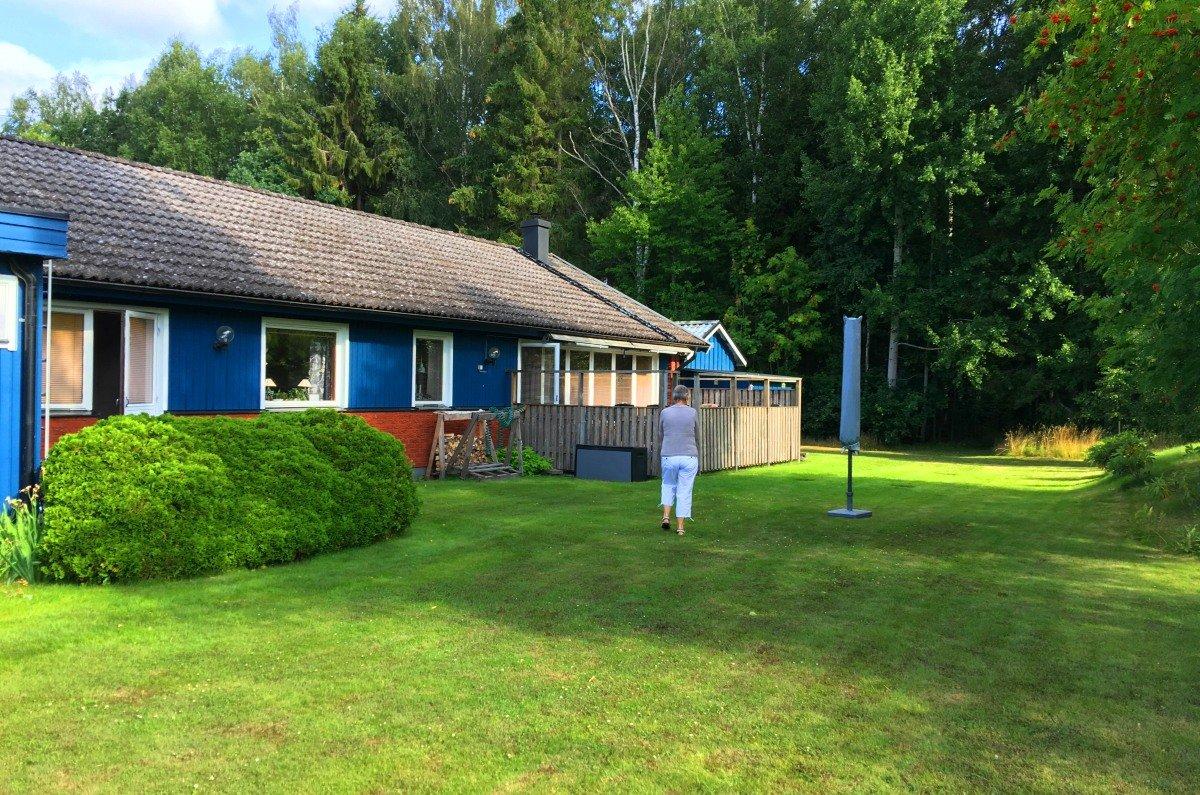 Das Haus von Barbro und Ingemar am Waldrand