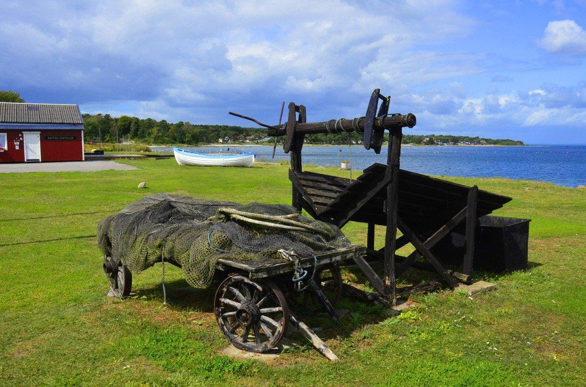 Stillleben Hörvik Hafen