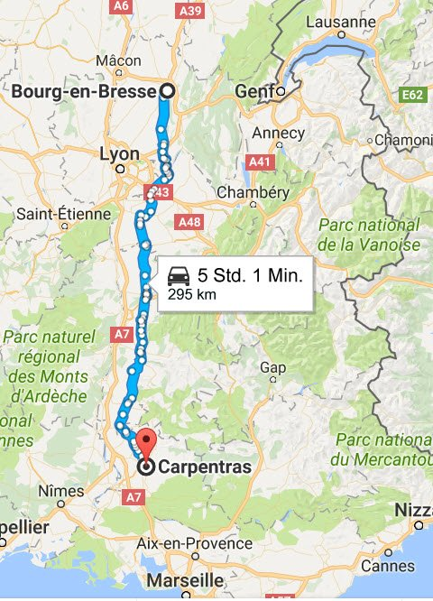 Bourg-en-Bresse - Carpentras