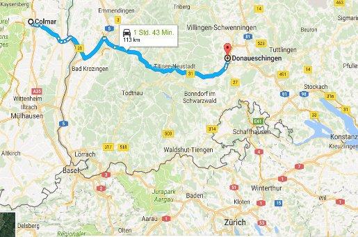 Colmar - Donaueschingen