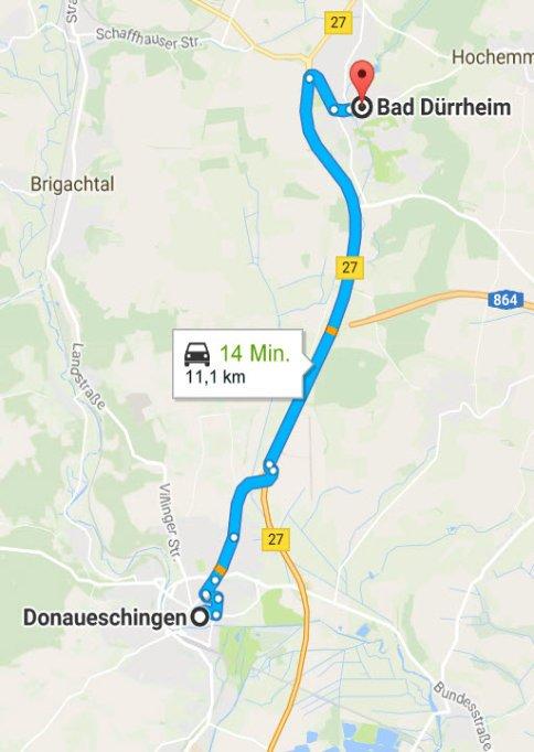 Donaueschingen - Bad Dürrheim
