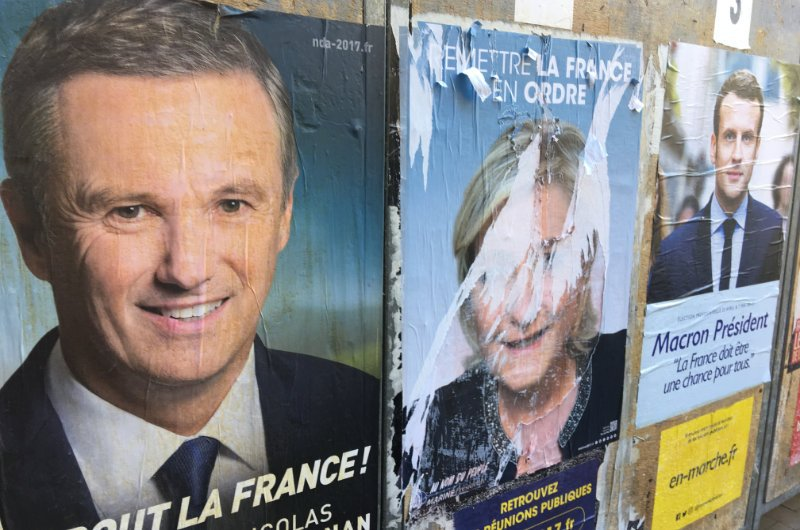 Le Pen Plakate sahen häufig so aus