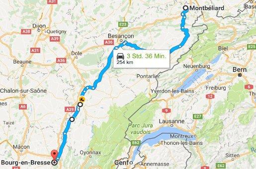 Montbeliard - Bourg-en-Bresse
