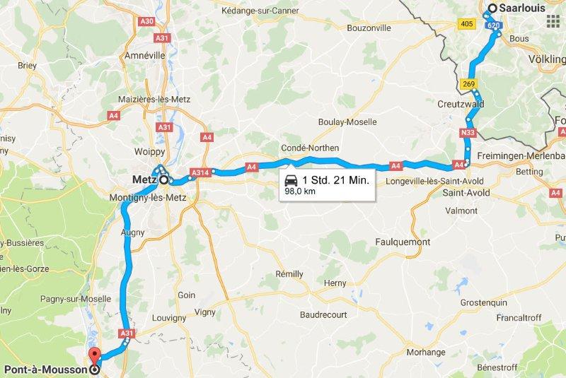 Saarlouis - Metz - Pont-à-Mousson