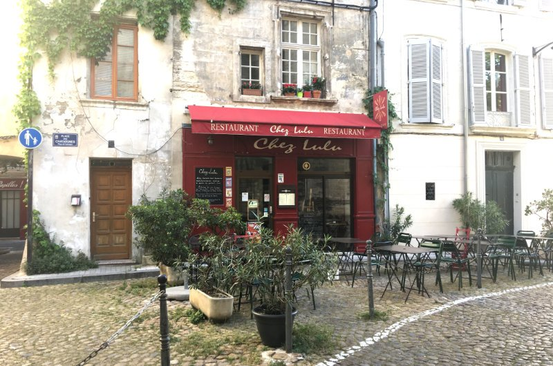 Types Straßenbild in Avignon