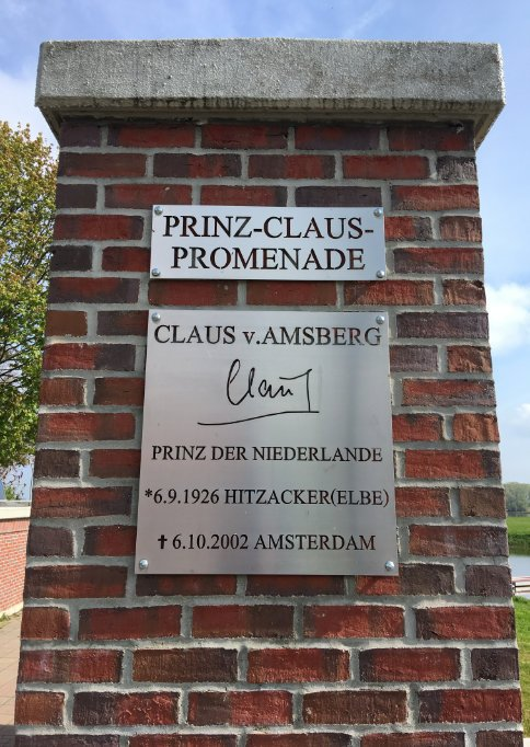 Claus von Amsberg Gedenktafel