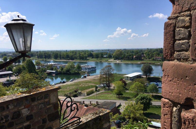 Toller Blick von der Oberstadt auf das Rheintal