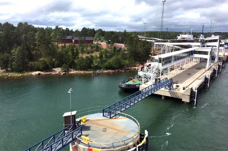 Ankunft in Långnäs auf den Åland Inseln