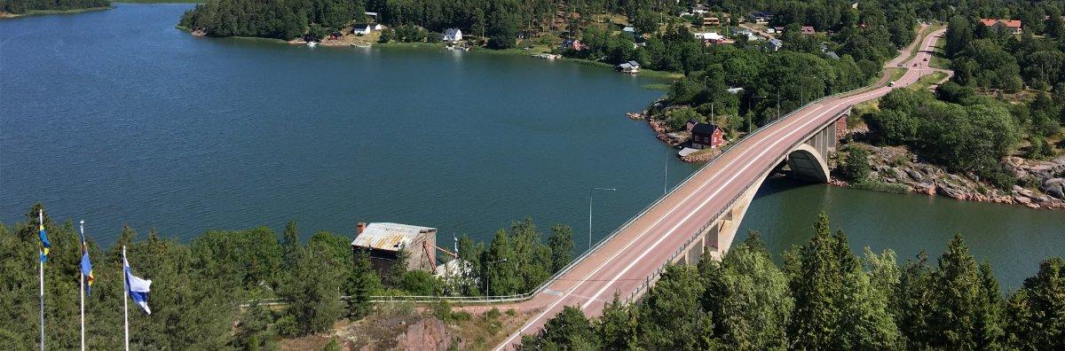 Brücke über den Färjsund, vom Turm aus aufgenommen