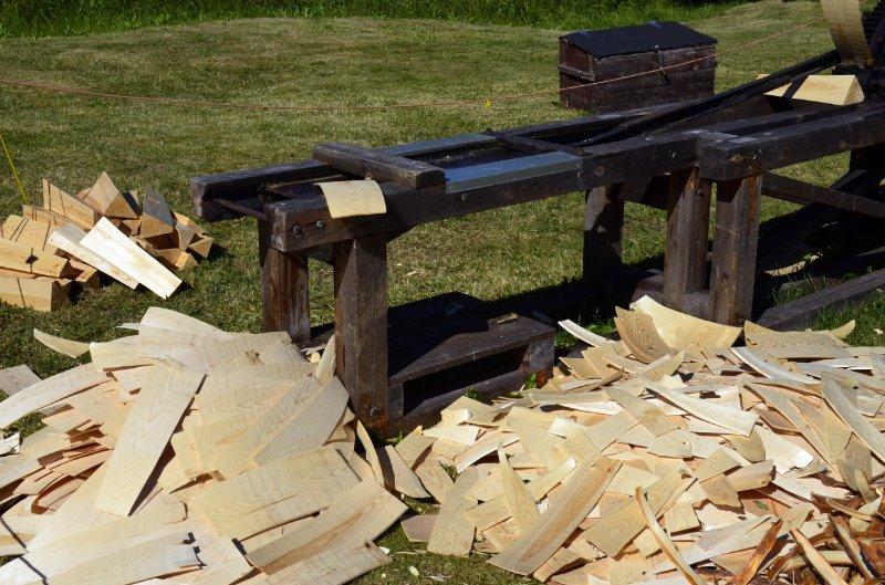 Maschine zum Herstellen von Holzschindeln