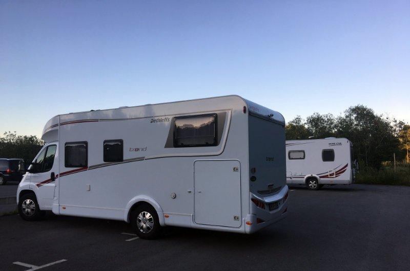 Unser Stellplatz auf Puttes Camping