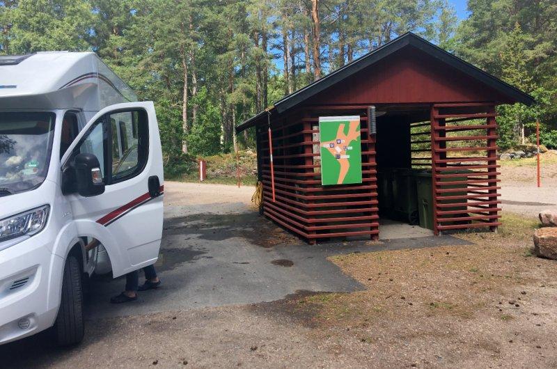 Die vorbildliche Ver- und Entsorgungsstation bei Läckö