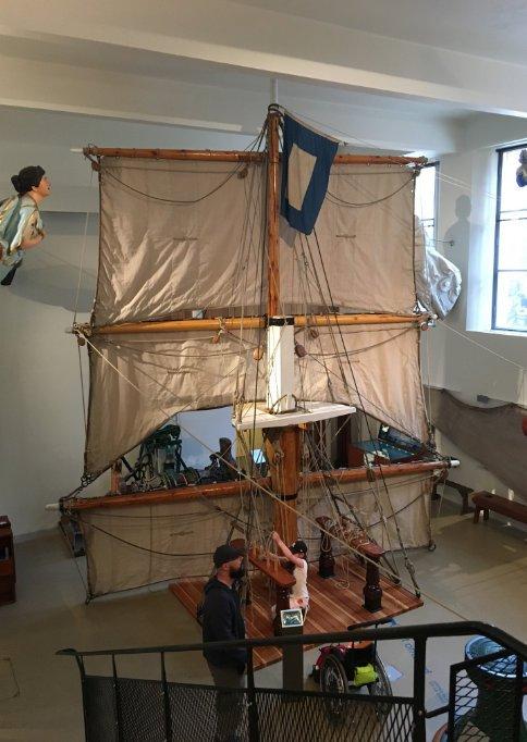 Windjammer-Takelage im Museum