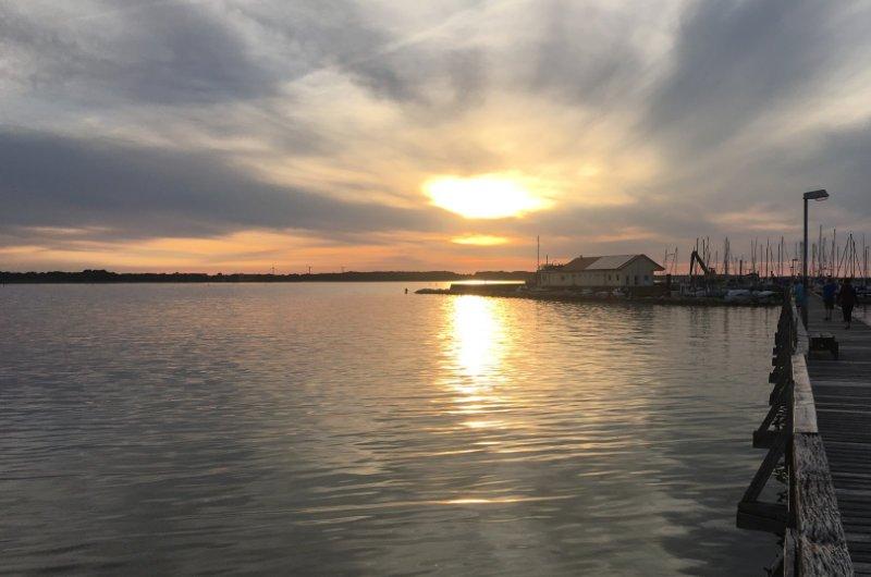 Sonnenuntergang in Wackerballig