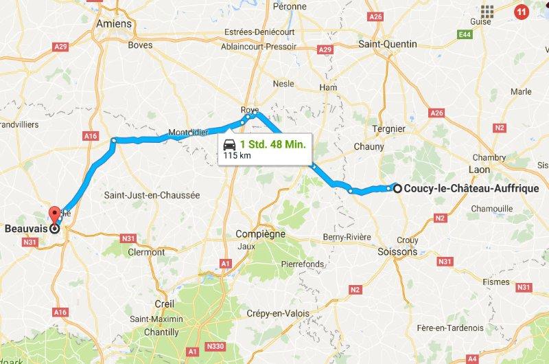 Coucy-le-Chateau-Auffrique - Beauvais