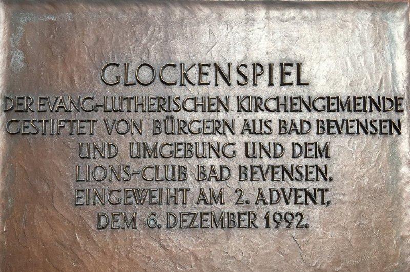 Glockenspiel Gedenktafel