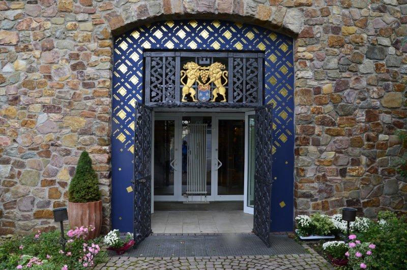 Prächtiger Eingang zum Asbach-Museum