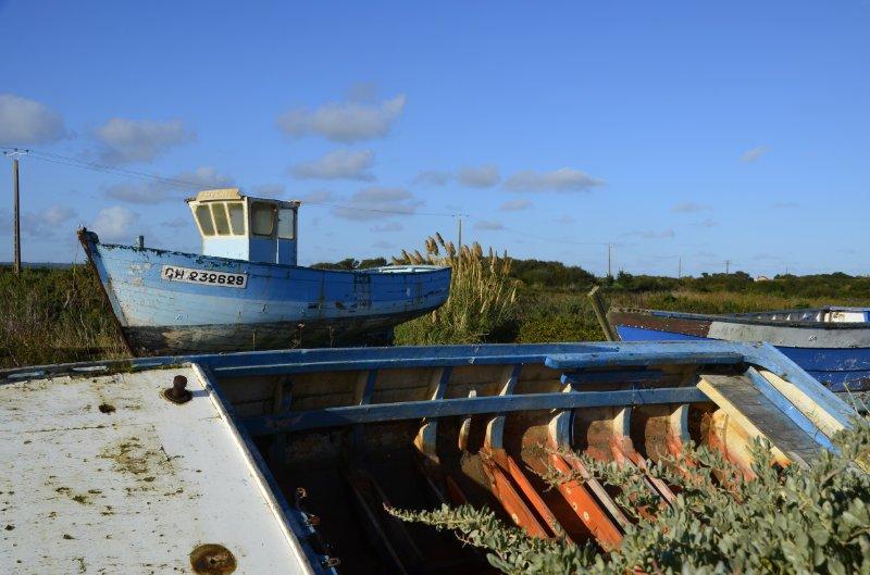 Boote auf dem Trockenen