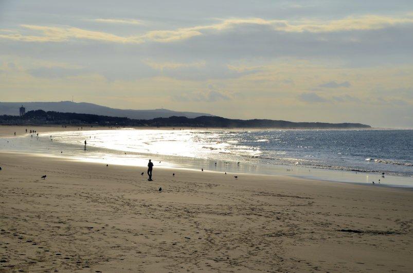 Der Strand von Calais in südwestlicher Richtung