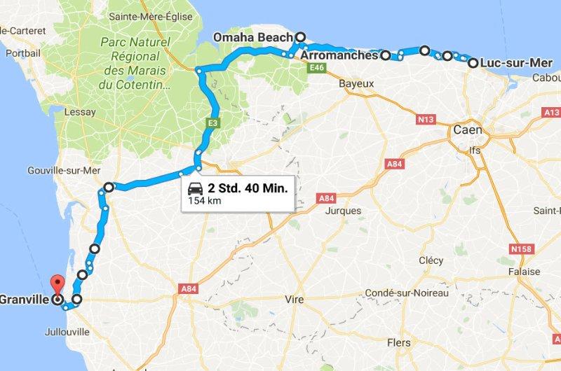 Luc-sur-Mer - Arromanches - Omaha Beach - Granville