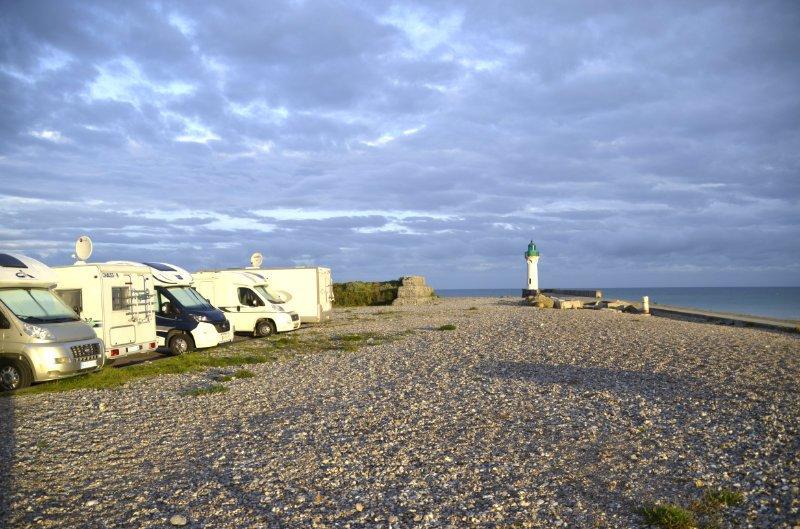 Stellplatz St. Valery en Caux mit Blick aufs Meer
