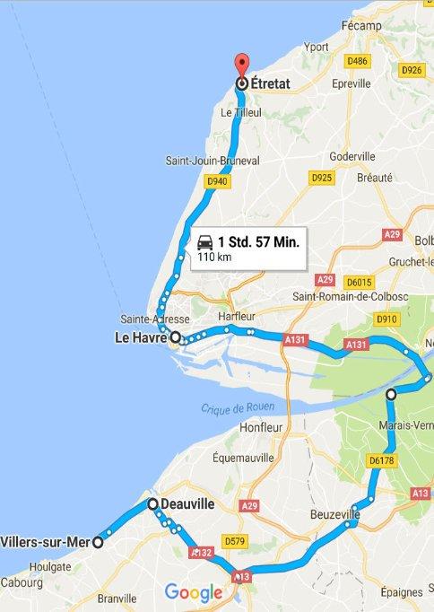 Villers-sur-Mar - Deauville - Le Havre - Étretat