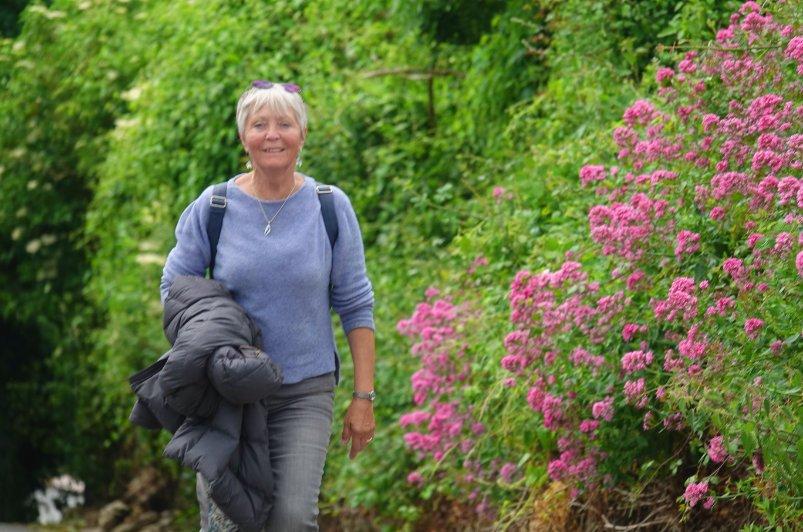 Anne auf dem Scilly Walk nach Kinsale