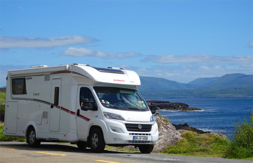 Unser Wohnmobil bei Castle Cove