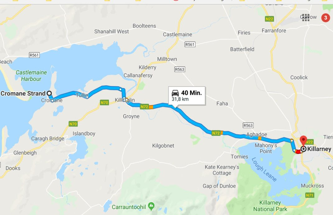 Cromane Strand - Killarney und zurück
