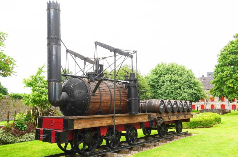 Früherer Whiskyfass-Transport