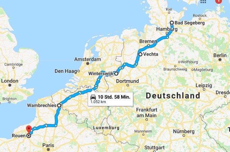 Bad Segeberg-Vechta-Winterswijk-Wambrechies-Rouen