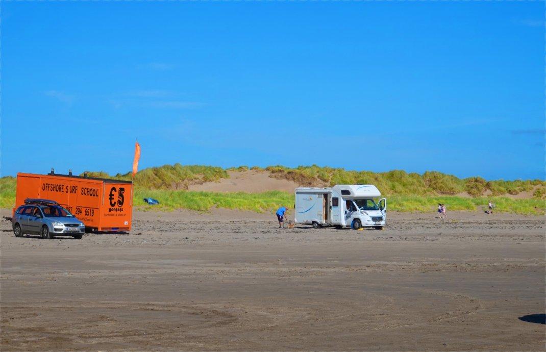 Wohnmobil am Strand