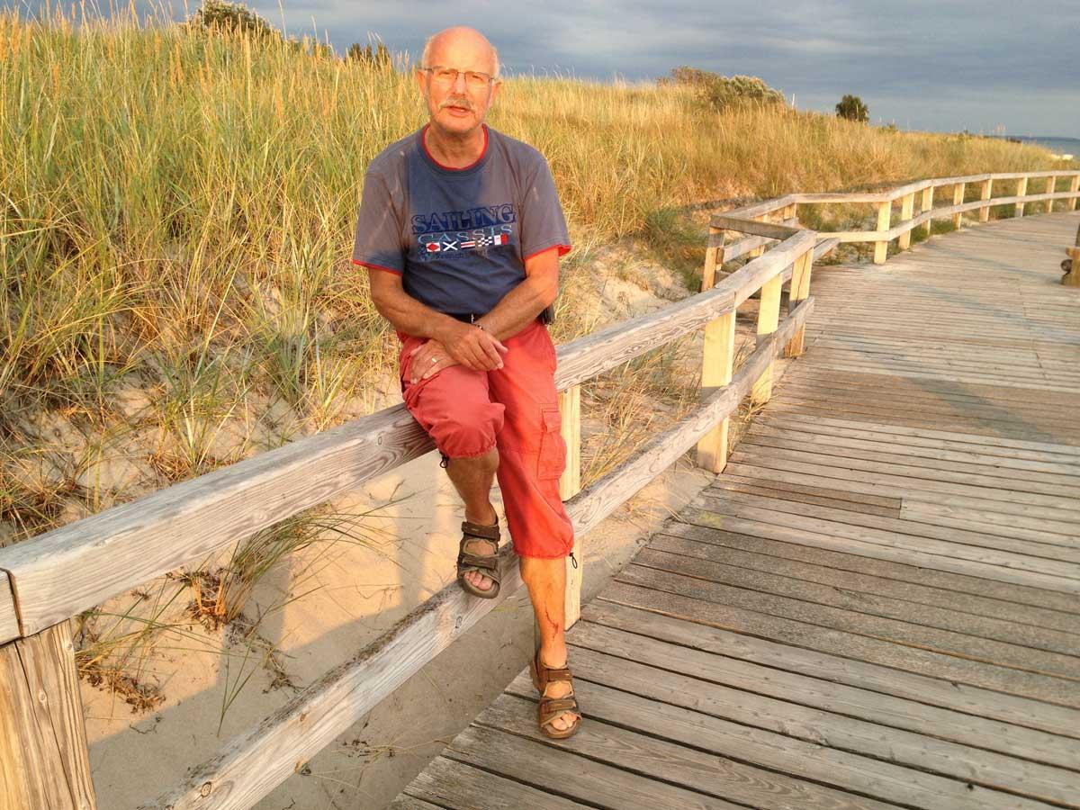 Am Strand von Pelzerhaken in der Abendsonne
